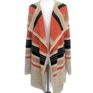 Tulle Waterfall Open Cardigan - Multicolor Small